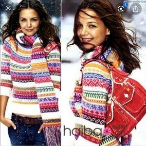 Gap Vintage 90s Multicolor Fair Isle Sweater Sz M